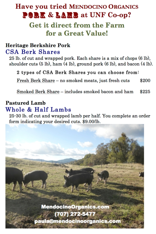 Just a reminder...we have amazing Pork & Lamb!