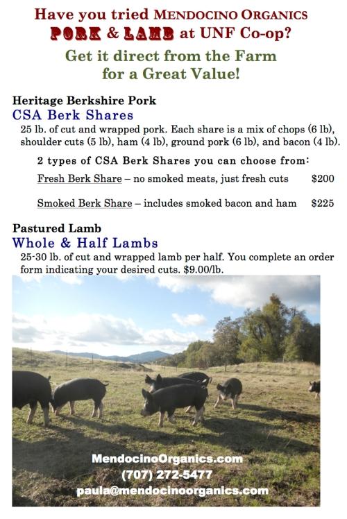 Just a reminder...we have amazing Pork & Lamb!