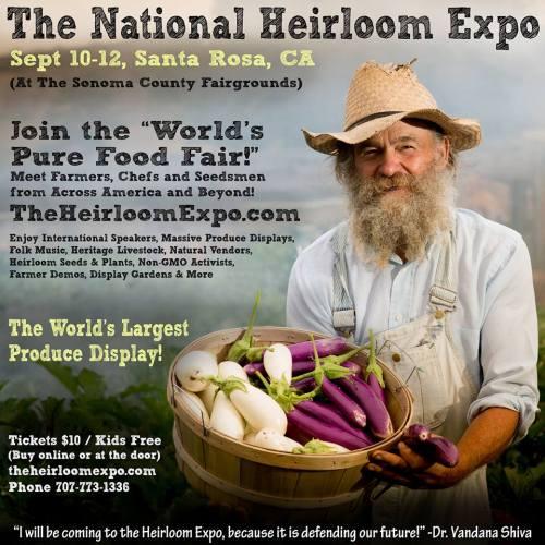 3rd Annual National Heirloom Expo in Santa Rosa Next Week
